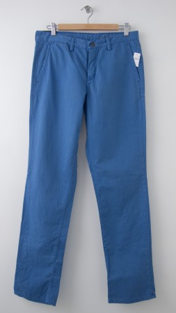 NEW Gap Men's 1969 Slim Fit Denim Washed Khaki Pants in Union Blue