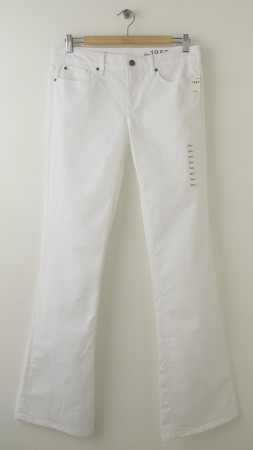 NEW Gap 1969 Sexy Boot Jeans in White