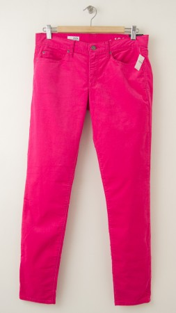NEW Gap 1969 Legging Jean Corduroy Pants in Raspberry Sorbet