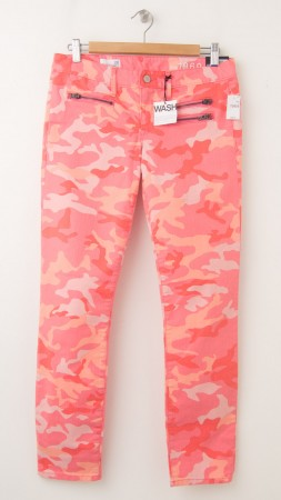 """NEW Gap 1969 Front-Zip Always Skinny 29"""" Ankle Jeans in Pink Camo"""