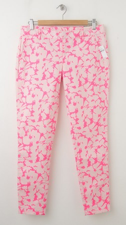 NEW Gap Skinny Mini Skimmer Khaki Pants in Coral Floral Print