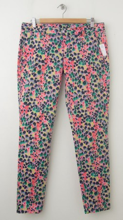 NEW Gap Skinny Mini Skimmer Khaki Pants in Floral Print