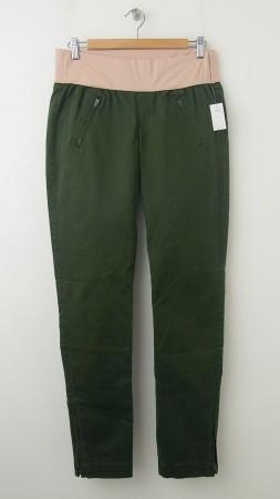 NEW Gap Maternity Demi-Panel Skinny Mini Skimmer Khaki Pants in New Olive