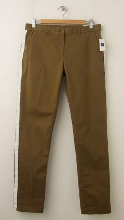 NEW Gap Broken-In Straight Tuxedo-Striped Khaki Pants in Modern Bronze