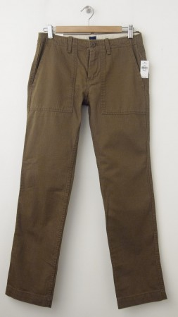 NEW Gap Slim Fit Herringbone Fatigue Pants in Modern Bronze