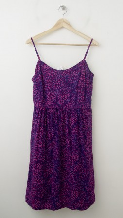 NEW Gap Printed Linda Spaghetti Strap Dress in Animal Print