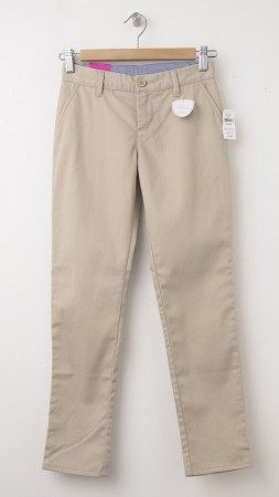 NEW GapKids Girl's GapShield Uniform Straight Khaki Pants in Wicker Beige