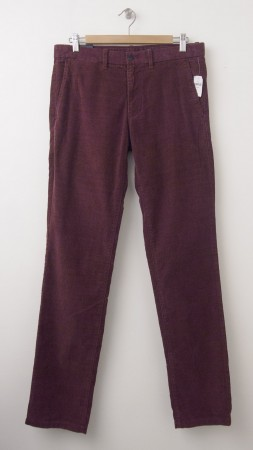 NEW Gap Tailored Cord Slim Fit Wide Wale Corduroy Pants in Cherry Cola