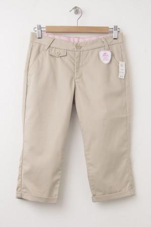NEW GapKids Girl's Uniform Capri Pants in Wicker
