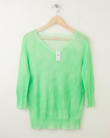 NEW Gap Neon Raglan V-Neck Sweater in Mint Green