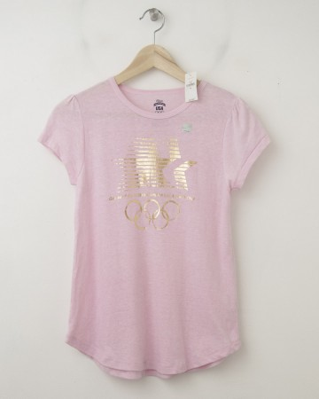 NEW GapKids Summer Olympics Los Angeles 1984 Graphic Tee T-Shirt in Pink