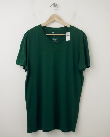 NEW Gap The Essential V-Neck Tee T-Shirt in Botanical Green