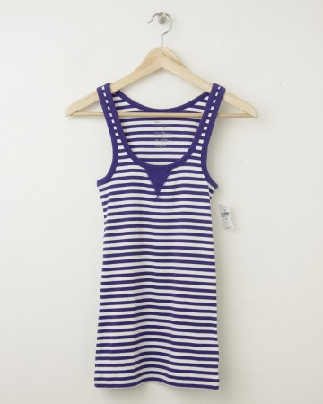 NEW Gap Women's Gap Striped Rib Patch Tank in Electric Fuschia