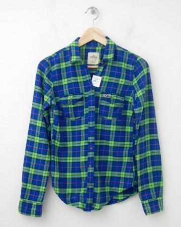 Hollister Women's Plaid Flannel Shirt