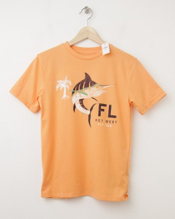 NEW GapKids Key West FL Graphic Tee T-Shirt in Icy Orange
