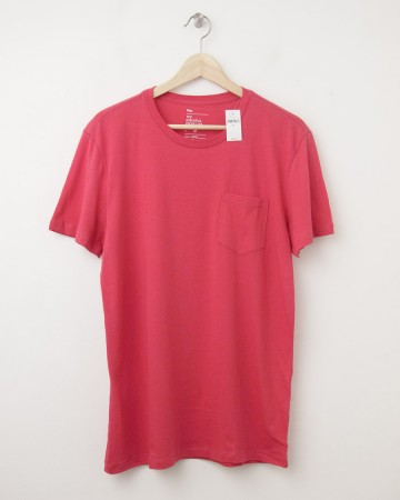 NEW Gap The Essential Pocket Tee T-Shirt in Watermelon