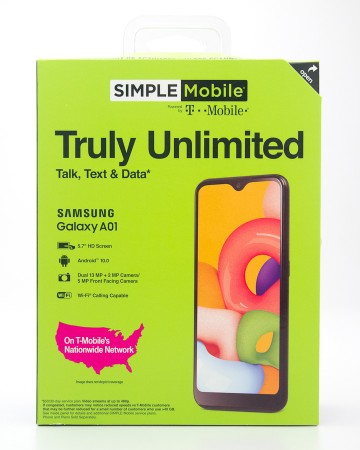 Simple Mobile by T-Mobile Samsung Galaxy A01 Prepaid Smartphone