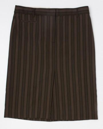 BCBG Max Azria Striped Herringbone Skirt Women's 4