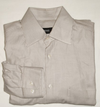 Boss by Hugo Boss Striped Twill Shirt - 14.5 32/33