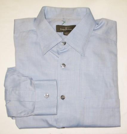 Ermenegildo Zegna Herringbone Shirt Men's Larger - L