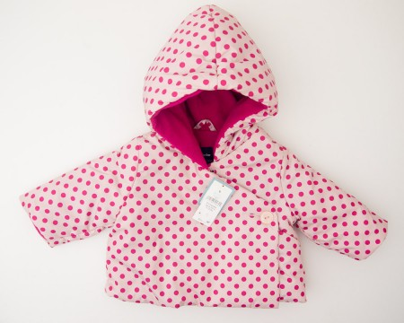 babyGap Favorite Polka Dot Kimono Hooded Jacket in Dull Rose
