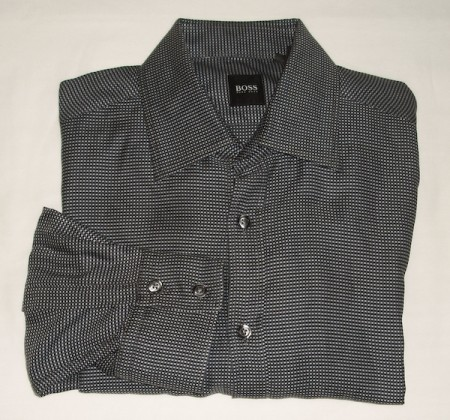 Boss by Hugo Boss Woven Check Shirt - Large
