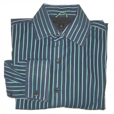 Banana Republic Striped Dress Shirt Men's Extra Large - XL - 17-17.5