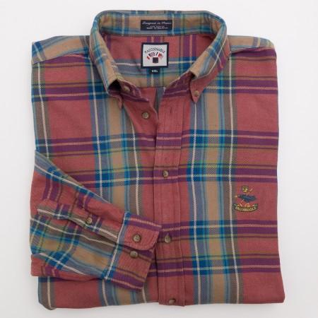 Faconnable Plaid Flannel Shirt Men's 2XL - XXLarge