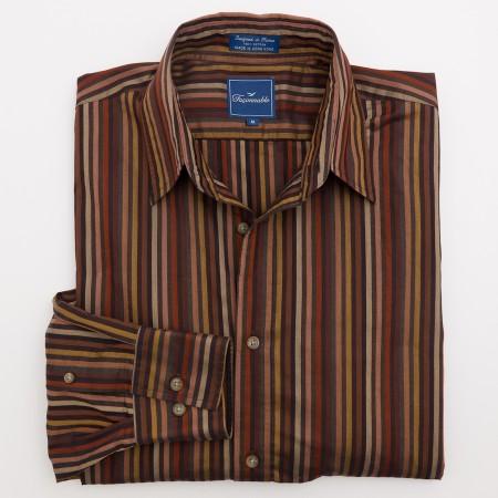 Faconnable Striped Button-Down Shirt Men's M - Medium