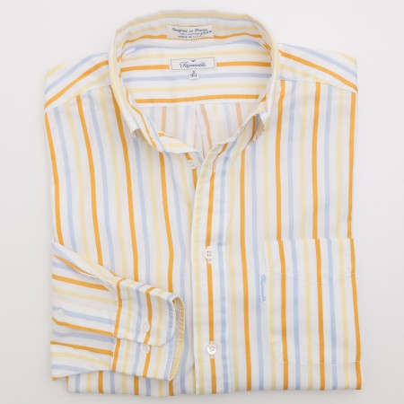 Faconnable Striped Dress Shirt Men's 3 - 15.5 L - Long