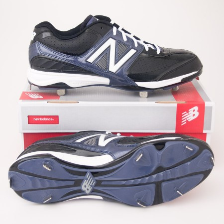 New Balance 4040 Low Cut Baseball Cleats MB4040TB in Black with Blue