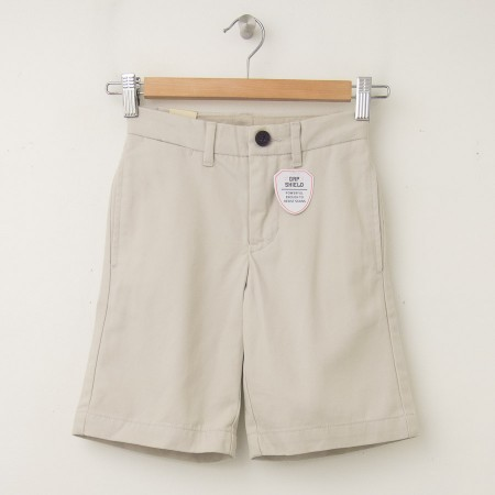 GapKids Boy's GapShield Uniform New Flat Front Short in Classic Stone