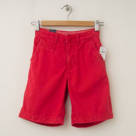 NEW GapKids Boy's Flat Front Shorts in Coral