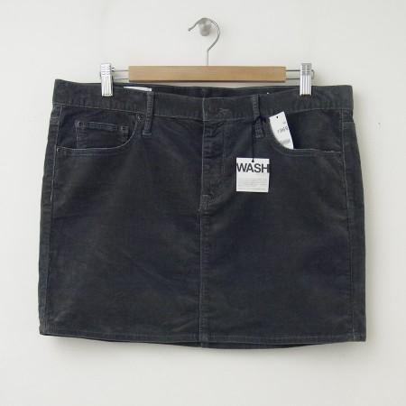 NEW Gap 1969 Cord Mini Skirt in Shark Fin