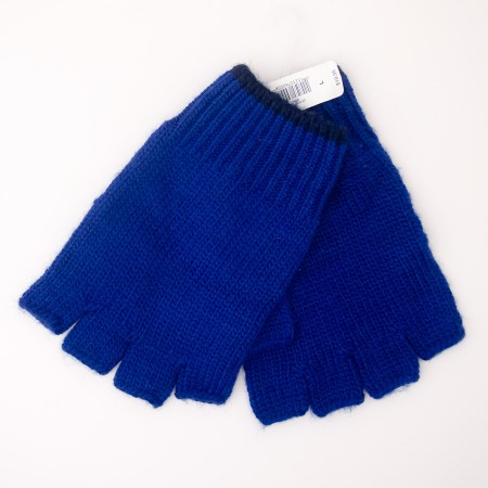 NEW Gap Men's Fingerless Gloves in Bodega Blue
