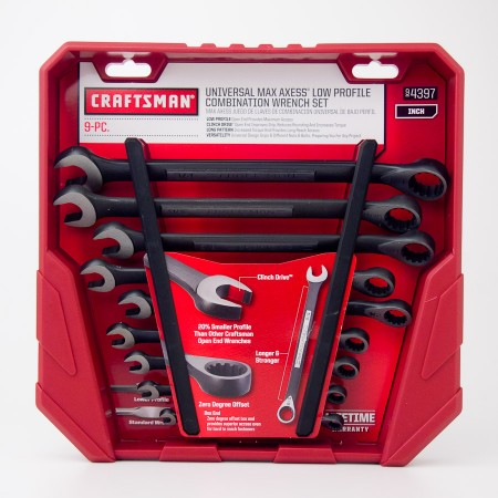Craftsman Universal Max Axess Low Profile Combination Wrench Set 9-PC Inch 9-4397
