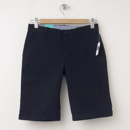 "NEW GapKids Girl's Uniform Skinny Stretch Bermuda Shorts (8"") in Deep True Navy"