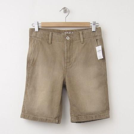 NEW GapKids Boys 1969 Flat Front Denim Shorts in Desert Wash