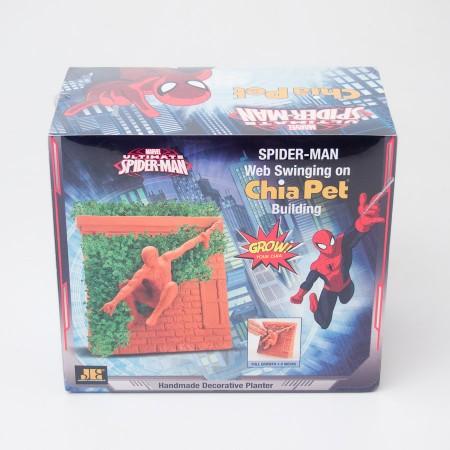 Chia Pet Spider-Man Web Swinging on Building Decorative Planter