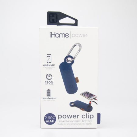 iHome Power Clip Universal External 2600 mAh Battery IH-CT4010N in Blue