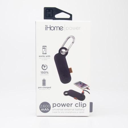 iHome Power Clip Universal External 2600 mAh Battery IH-CT4010B in Black