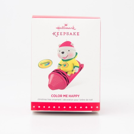 Hallmark Keepsake Color Me Happy Christmas Tree Ornament 2015