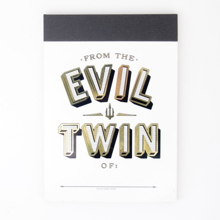 Knock Knock Alter Ego Pad - From the Evil Twin Of: