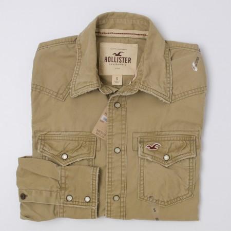 NEW Hollister Men's Heavyweight Western Shirt
