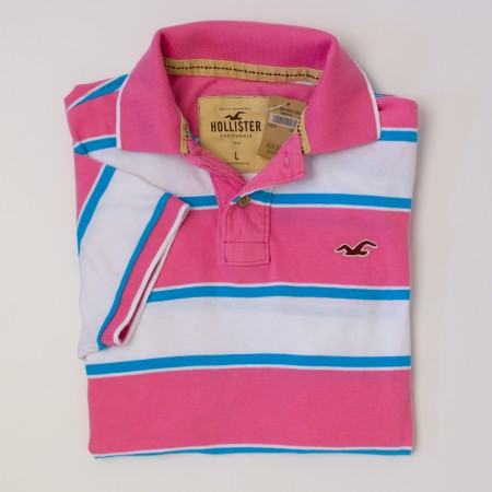 NEW Hollister Men's Striped Polo Shirt
