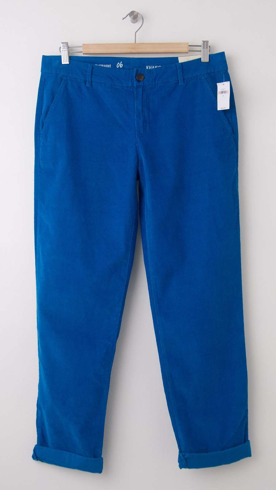 NEW Gap Broken-In Straight Corduroy Khaki Pants in Skater Blue