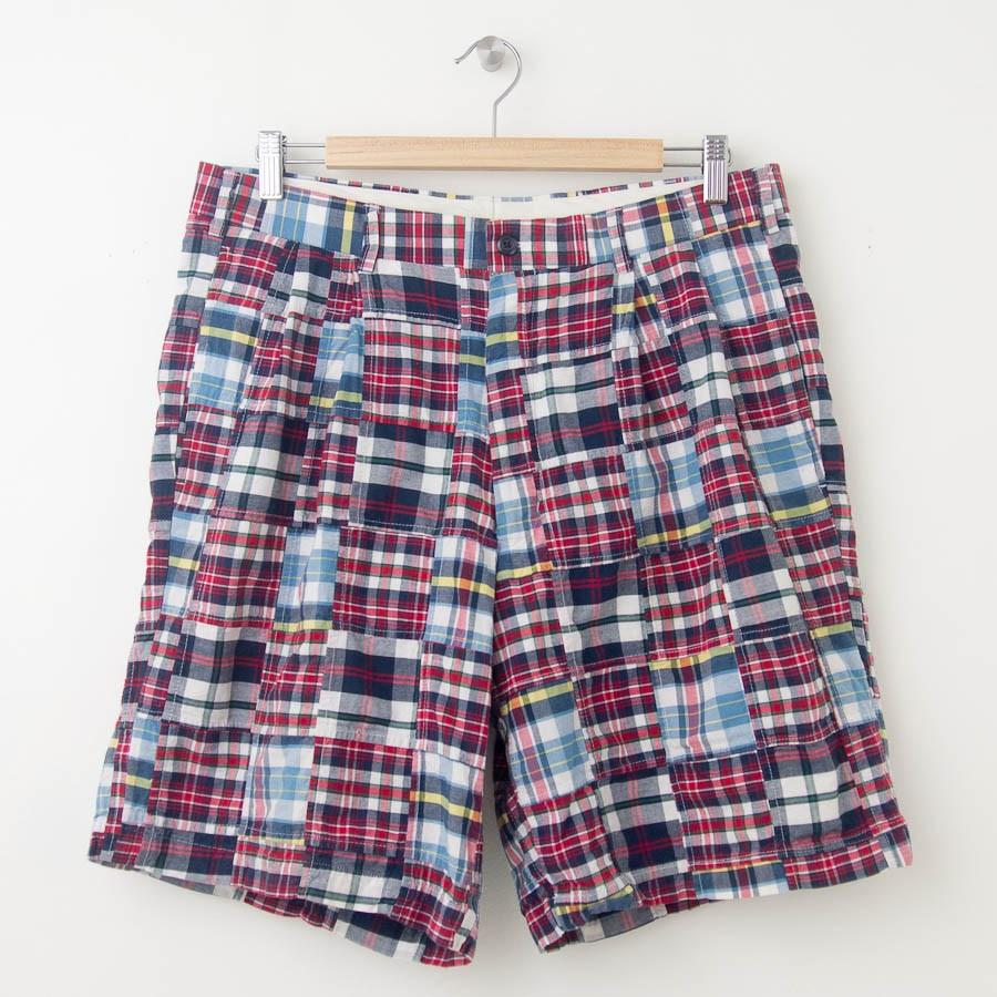 jos a bank patchwork plaid madras shorts men 39 s 34r. Black Bedroom Furniture Sets. Home Design Ideas