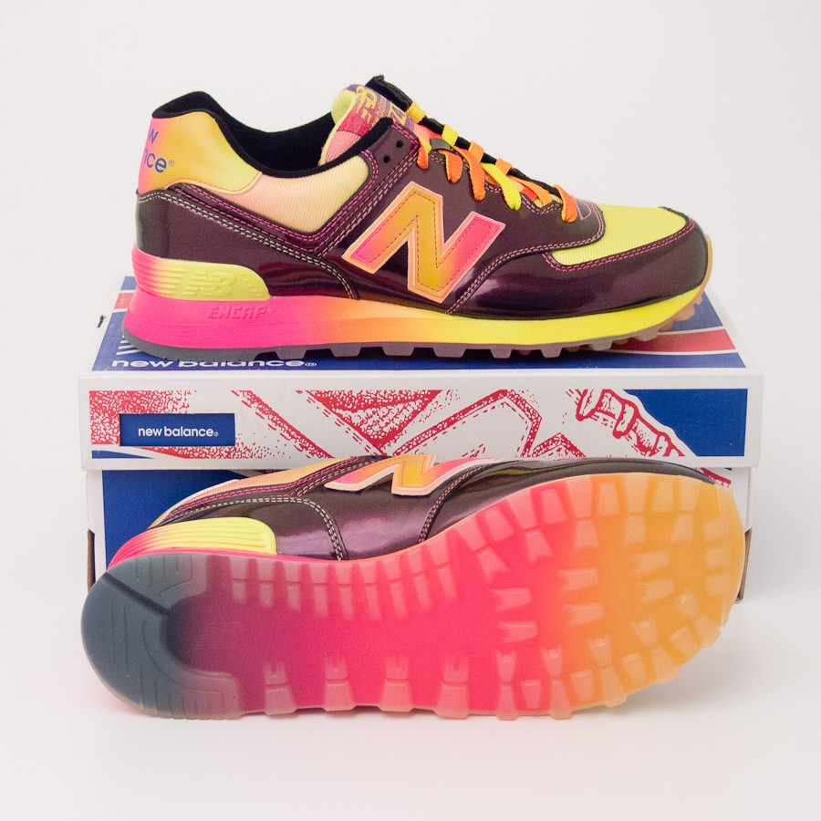 sports shoes dfe9f e9e85 New Balance Women's Rainbow 574 Classics Running Shoes Purple WL574BOW