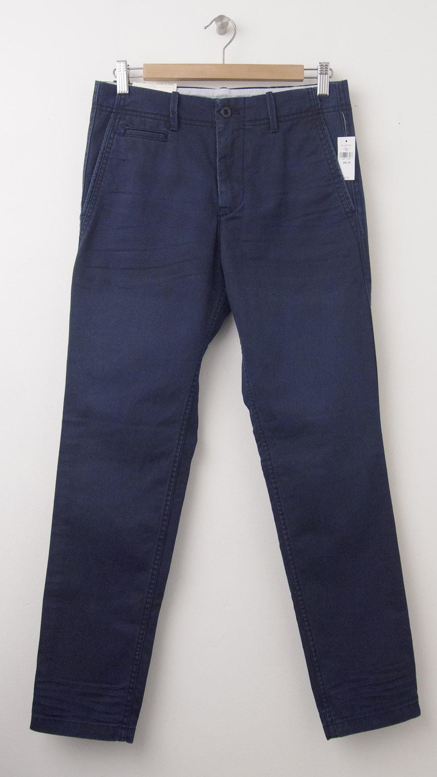 NEW Gap Lived-In Taper Khaki Pants in Midnight Fog