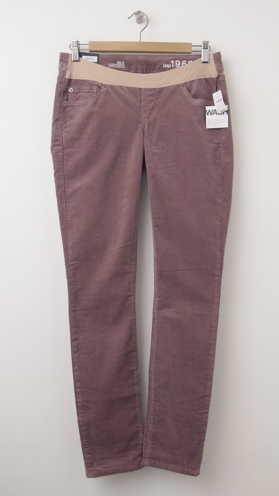 NEW Gap 1969 Ultimate Panel Always Skinny Cords Maternity Pants in Fig